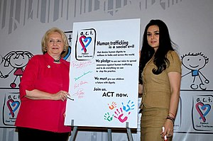 Child trafficking in India - Preity Zinta at ACT (Against Child Trafficking)