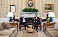 President Barack Obama meets with Sen. John McCain of Arizona in the Oval Office, Feb. 2, 2011.jpg