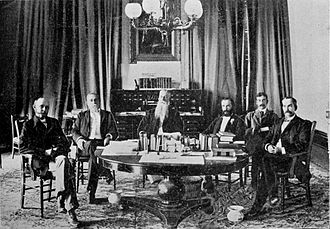 Sanford B. Dole - President Dole and the Cabinet of the Republic