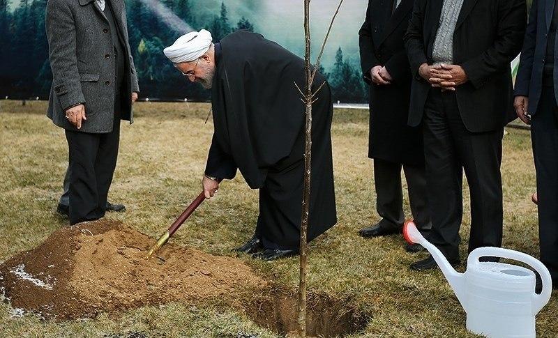President Rouhani in Arbor Day 03