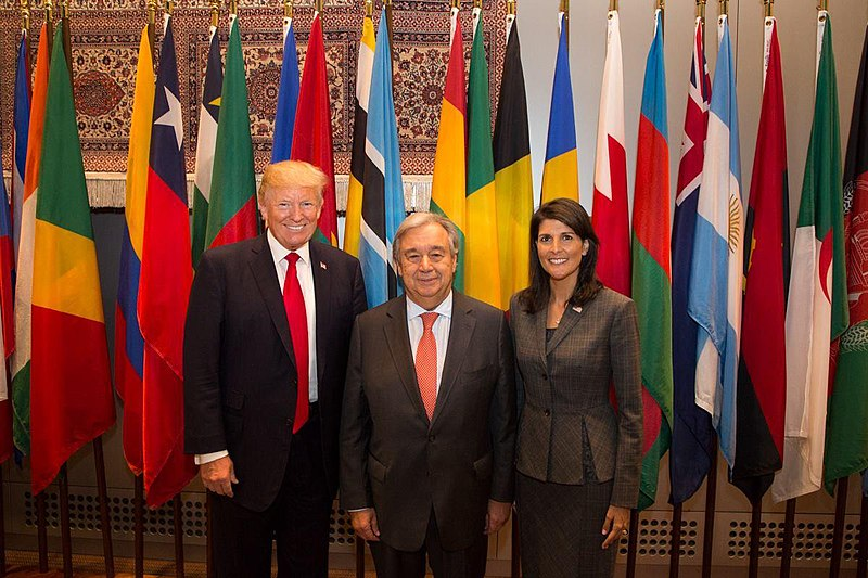 File:President Trump, Ambassador Haley, and UN Secretary General Guterres.jpg