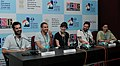 Press conference by Alejandro Fadel (Director), Idan Hubel (Director) and Safy Nebbou (Director), at the 43rd International Film Festival of India (IFFI-2012), in Panaji, Goa on November 28, 2012.jpg