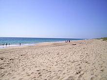View Along Preston Beach In