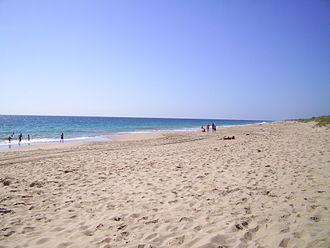 Preston Beach, Western Australia - View along Preston beach in 2013