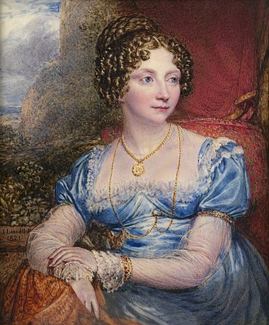 Princess Sophia, c. 1821. Painting by John Linnell. Princess Sophia (1777-1848), John Linnell painting.jpg