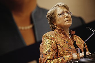New Majority (Chile) - Michelle Bachelet, presidential candidate and leader of the New Majority.