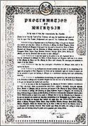 Proclamation of Malaysia - Proclamation of Malaysia in English
