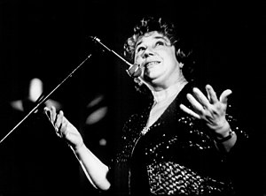 1926 in jazz - Czech jazz singer Vlasta Pruchova, Lucerna Hall, Prague 1985