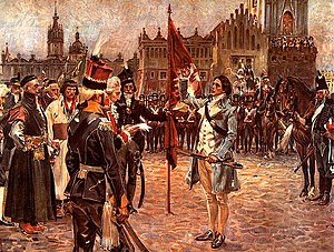 Tadeusz Kościuszko taking the oath to liberate Poland from oppression