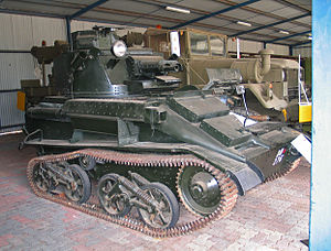 Light Tank Mk VI - Light Tank Mk VIA-2 on display at Royal Australian Armoured Corps Tank Museum.