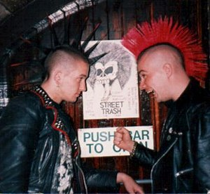 Punk subculture - Two UK punks in the 1980s