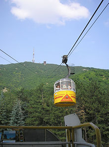 Пятигорская канатная дорога на вершину горы Машук.