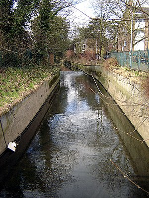 Pymmes Brook -  Pymmes Brook at Fore Street, Edmonton