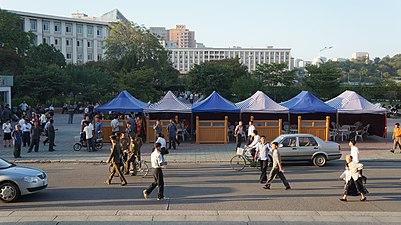 Street Food Vendors In Pyongyang North Korea
