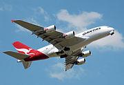Qantas a380 vh-oqa takeoff heathrow arp