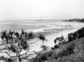Queensland State Archives 1106 View of Beach showing Bribie Island and entrance to Pumicestone Channel Caloundra December 1930.png