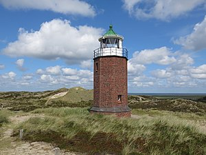 Rotes Kliff lighthouse - Image: Quermarkenfeuer Rotes Kliff