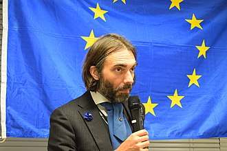 Cédric Villani - Cédric Villani at a public meeting of En Marche in Tokyo