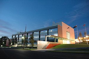 New South Wales Rural Fire Service - The Rural Fire Service Headquarters is situated on Carter Street, Lidcombe.
