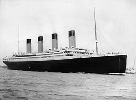 Titanic docked in Southampton before her maiden voyage.