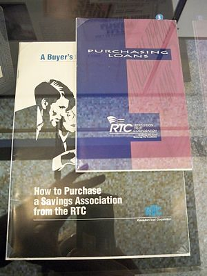 Resolution Trust Corporation - RTC literature in the Federal Deposit Insurance Corporation history exhibit