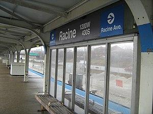Racine station (CTA Blue Line) - Image: Racine station