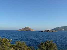View of Raftis Island and Raftopoula