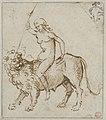 Raimondi - A Naked Woman Riding a Lion, 1353.jpg