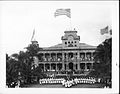 Raising of American flag at Iolani Palace with US Marines in the foreground (PP-35-8-016).jpg