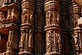 Raja Rani Temple, Bhubaneshwar . Intricate exteriors from the West Side.jpg