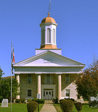 Ralls County, Missouri - Image: Ralls County MO Courthouse 20141022 A