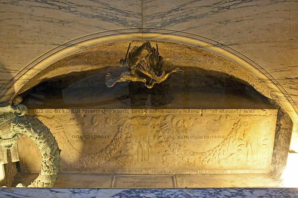 Raphael's grave, Pantheon 2010