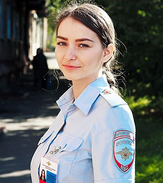 Police of Russia - Summer uniform of a Russian police officer