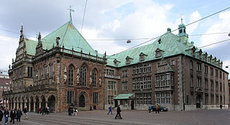 New Town Hall (Bremen) - The Old and New Town Halls