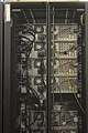 Rear of distributed filesystem servers in rack at NERSC.jpg
