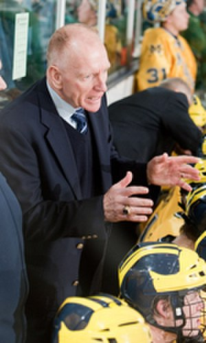 Red Berenson - Berenson coaching the Michigan Wolverines