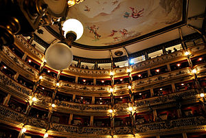 Teatro Bellini, Naples - Interior of theater as it looks today
