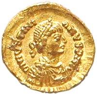 Regno dei goti, Giustiniano I, emissione aurea, 527-536.jpg