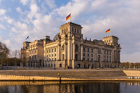 Reichstag building from the north-east