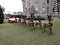 Reindeers & sled, Lowndes County Courthouse, December 2014.JPG
