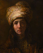 Rembrandt or Samuel Hoogstraten - Young Man in a Turban.jpg