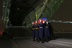 Repatriation of Oleg Peshkov's body at Chkalovsky Airport (1).jpg
