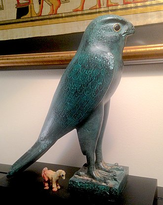 Horus - Horus falcon, after 600 BCE. Original in the Department of Ancient Egypt and Sudan, British Museum