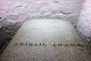 Abigail Adams - Abigail's grave at United First Parish Church, Quincy, MA