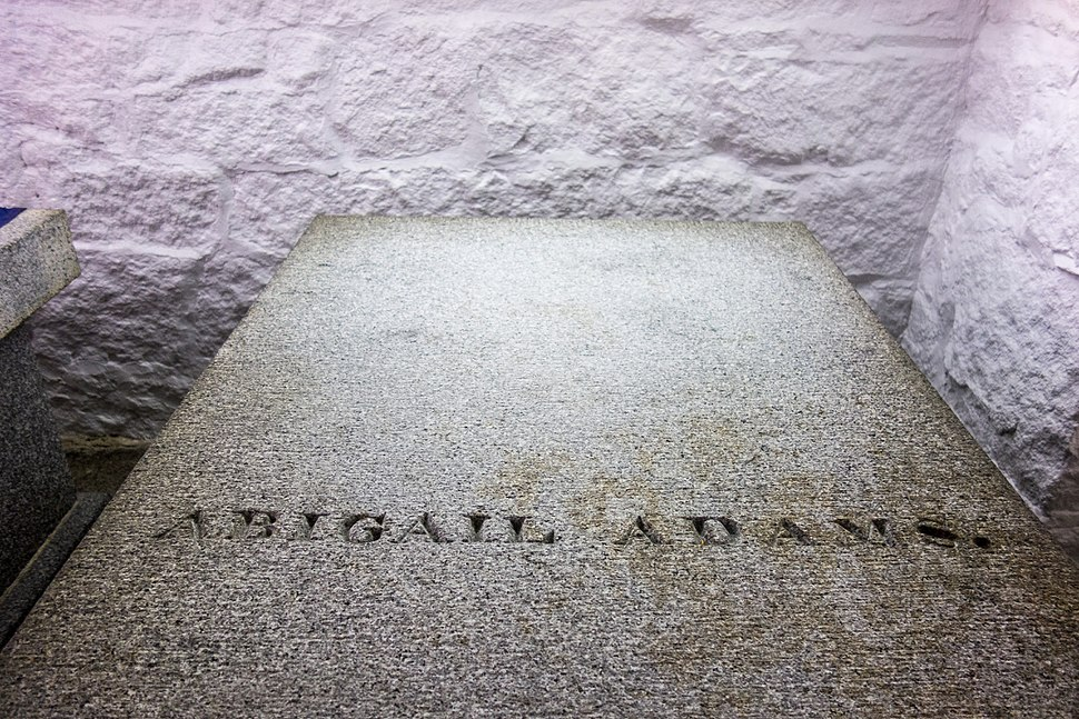 Resting place of Abigail Adams at United First Parish Church