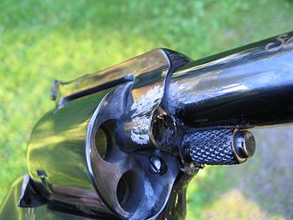 Hang fire - Revolver that has suffered from a hang fire