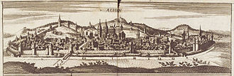 Aachen - View of Aachen in 1690