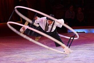 Wheel gymnastics - Image: Rhoenrad im Zirkus