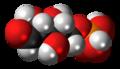 Ribose 5-phosphate molecule spacefill.png