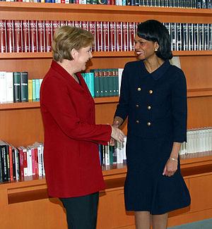 German chancellor Angela Merkel with US secret...